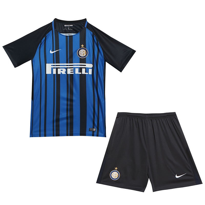 newest 43edc 48e97 17-18 Inter Milan Home Soccer Jersey Whole Kit(Shirt+Short+Socks)
