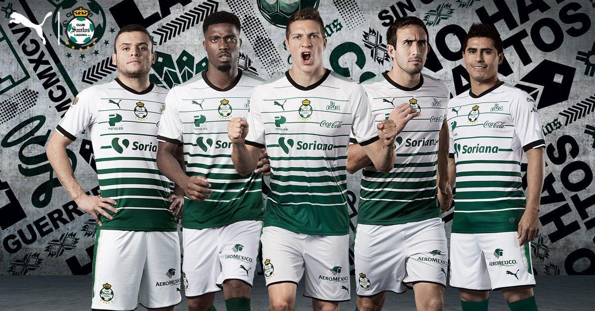 innovative design 66204 d8114 17-18 Santos Laguna Home Soccer Jersey Shirt