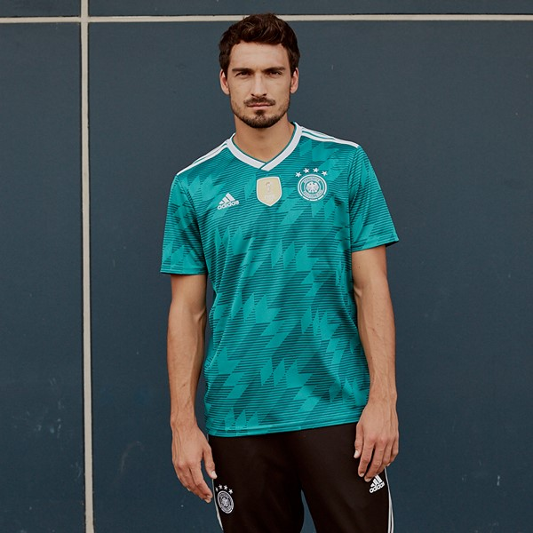low priced dcfb8 ad019 2018 World Cup Germany Away Green Jersey Shirt