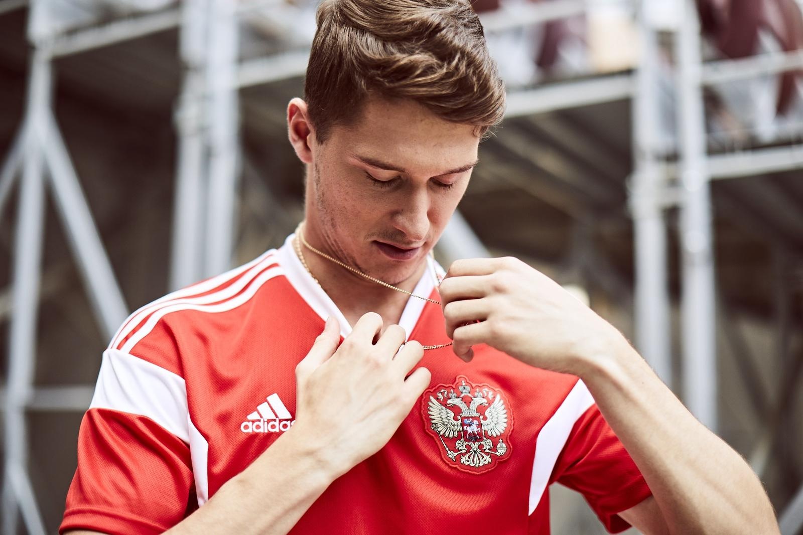on sale a3590 35b9f 2018 World Cup Russia Home Red Soccer Jersey Shirt