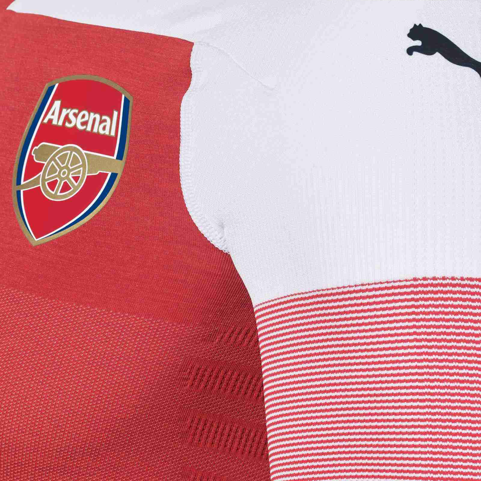 264e7e2bb430 Not only the sleeves of the new Arsenal home jersey are white but also the  shoulders, creating a new look that wasn t appreciated by most fans when it  was ...