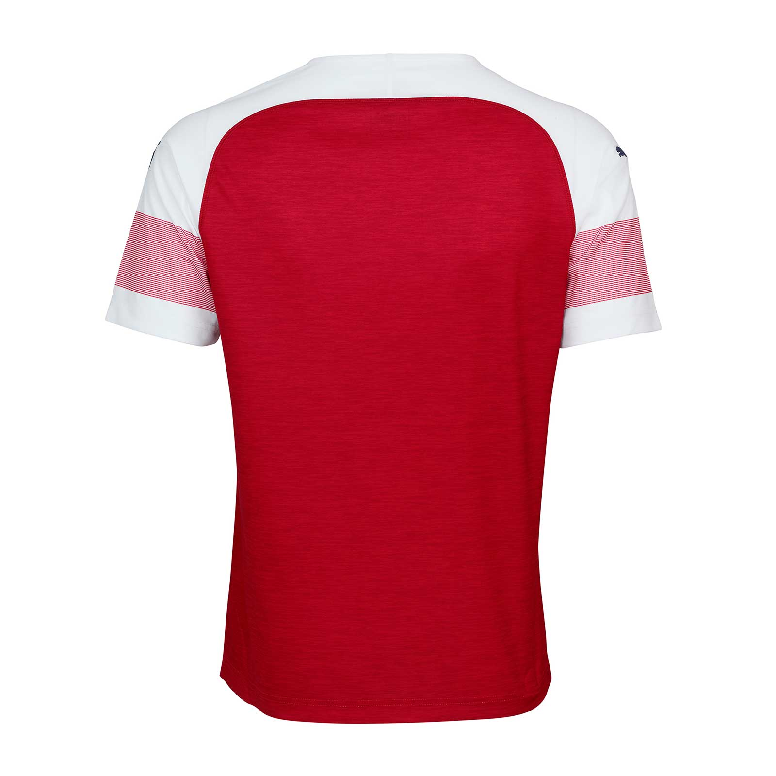 190643ee45d2 Dropping the darker red used on the previous one, the new Arsenal 2018-2019  home kit has a  Chili Red Heather  base.