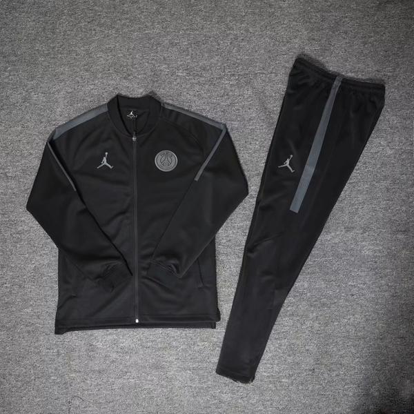 18-19 PSG JORDAN 3rd Away Black Training Kit(Jacket+Trousers ... e6c1367c2bd68