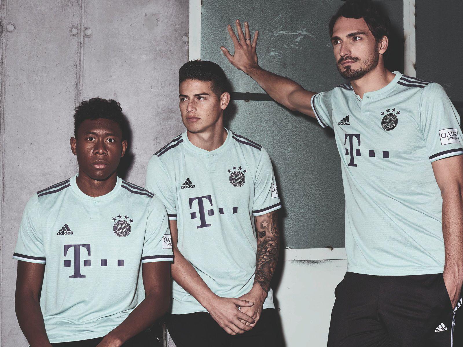 18 19 Bayern Munich Away Soccer Jersey Kit(Shirt+Short)