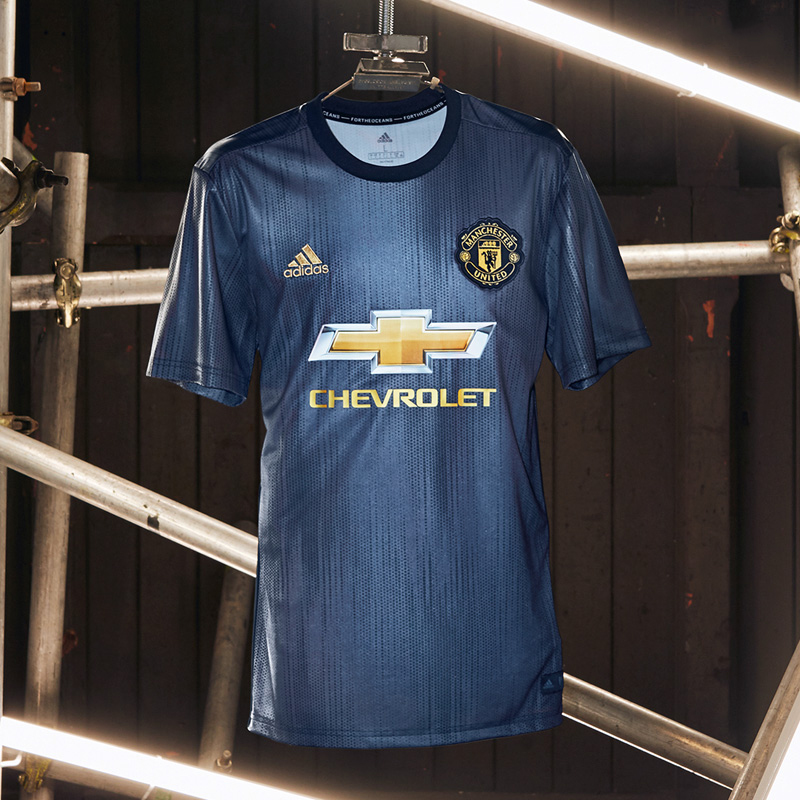 huge selection of 4150f 904df 18-19 Manchester United Third Away Navy Jersey Kit(Shirt+Short)