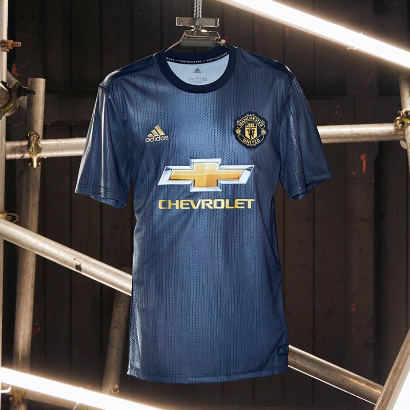 huge selection of 7e487 e96b8 18-19 Manchester United Third Away Navy Jersey Kit(Shirt+Short)