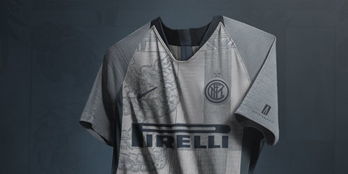 faabc6c9 18-19 Inter Milan Third Away Gray Soccer Jersey Kit(Shirt+Short ...