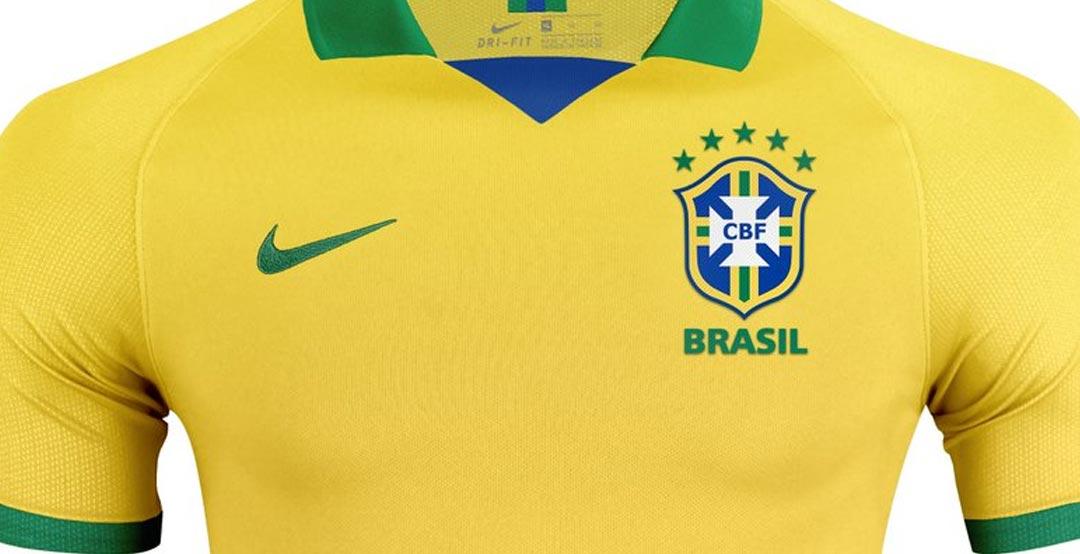 11fbe4c2878 2019 Brazil Home Yellow soccer Jerseys Shirt(Player Version) - Damarlov