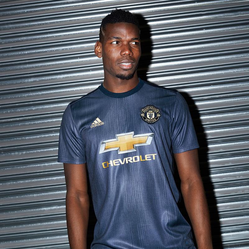 buy online e01af 06d51 18-19 Manchester United Third Away Navy Jersey Shirt