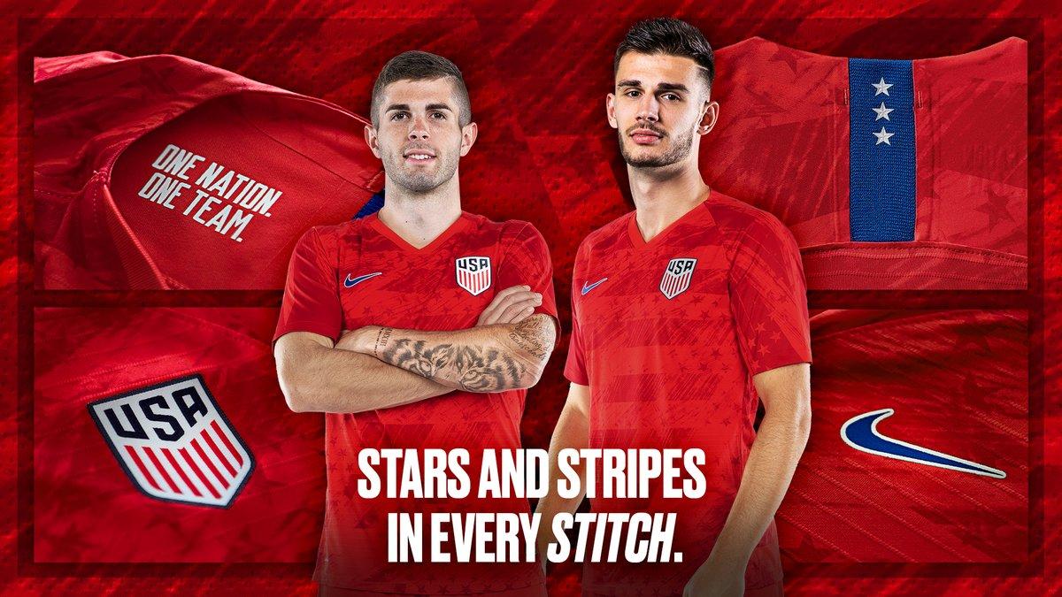 69b2d46267c 2019 USA Away Red Soccer Jerseys Shirt - Cheap Soccer Jerseys Shop ...