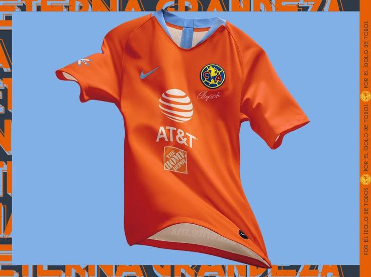 9a63e730b 2019 Club America Third Away Orange Soccer Jerseys Shirt - Cheap ...