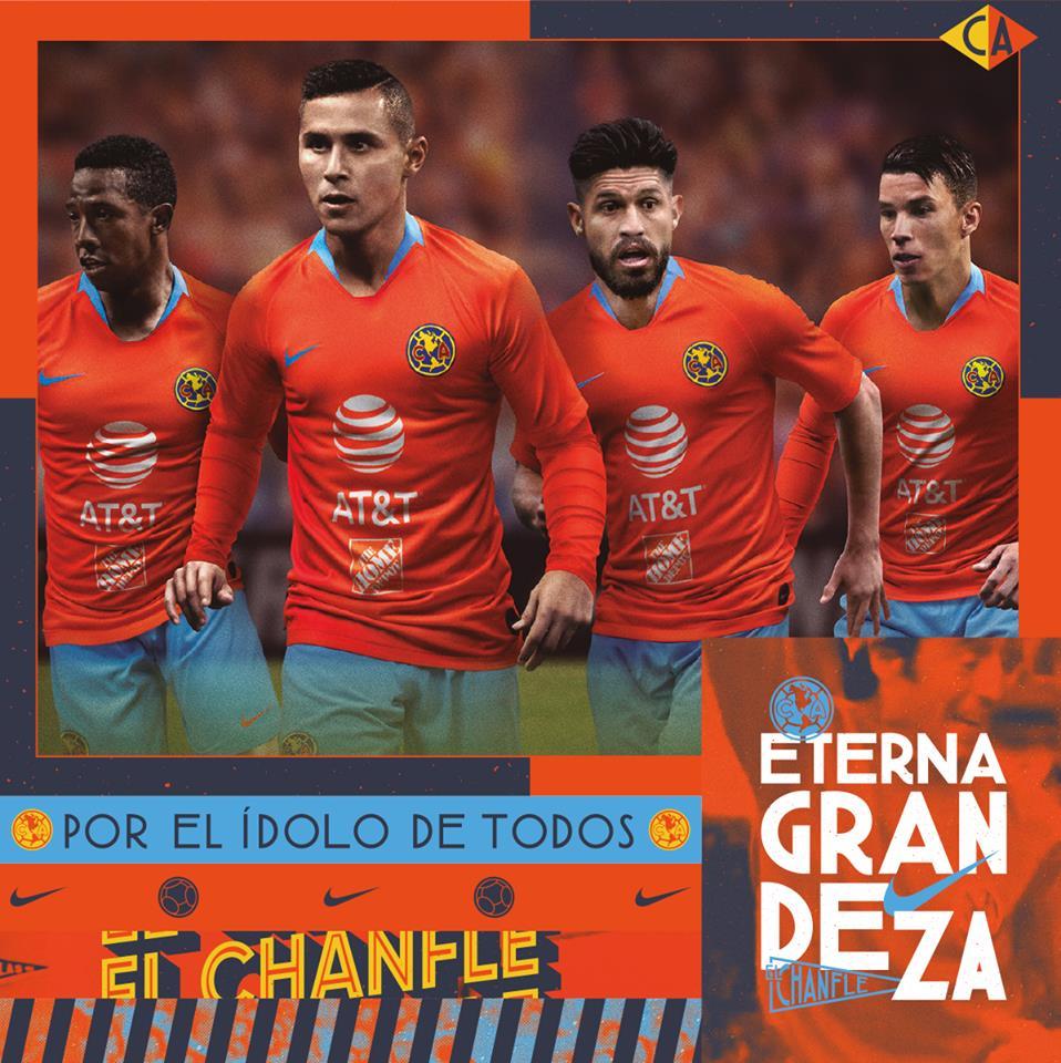huge selection of eefb9 fbfa4 2019 Club America Third Away Orange Soccer Jerseys Shirt