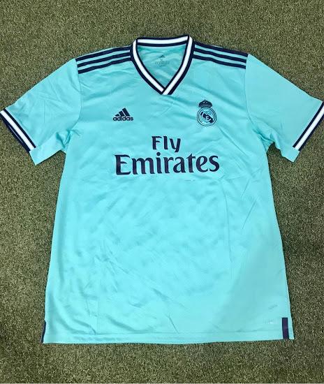 newest a5a9e fda49 19-20 Real Madrid Third Away Green Soccer Jerseys Shirt