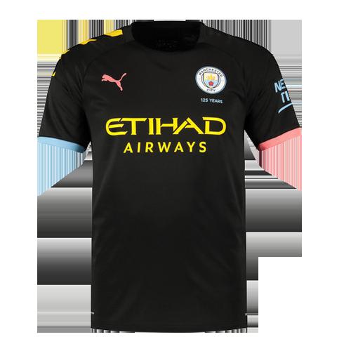 pretty nice 3cff1 f6e8c 19-20 Manchester City Away Black Jerseys Shirt